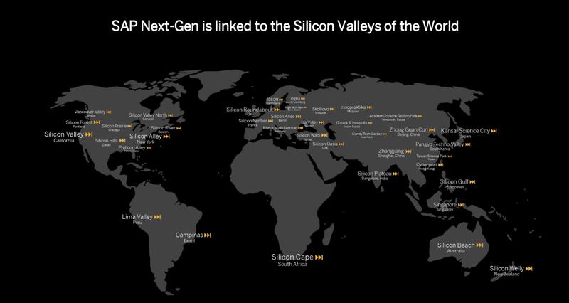 SAP NextGen map