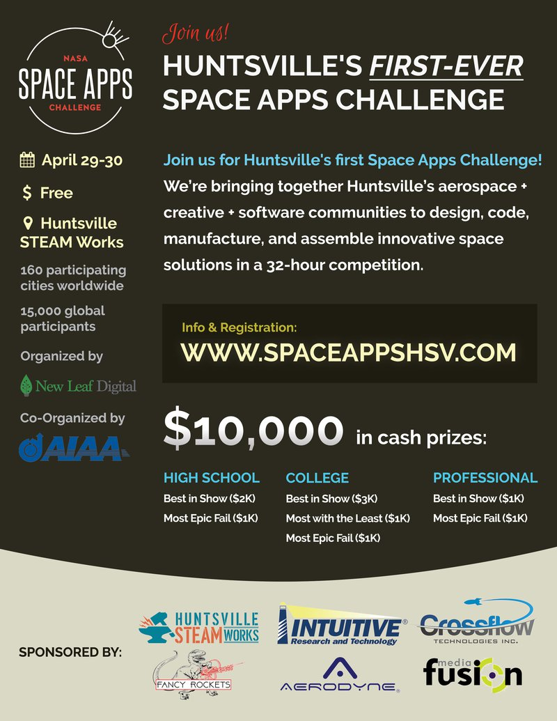 HSV Space Apps Flyer
